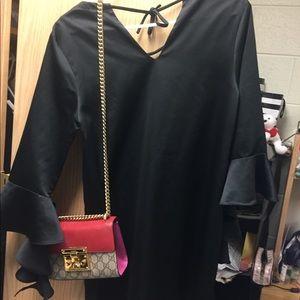 Elegant Cocktail Black Dress(with beautiful frills